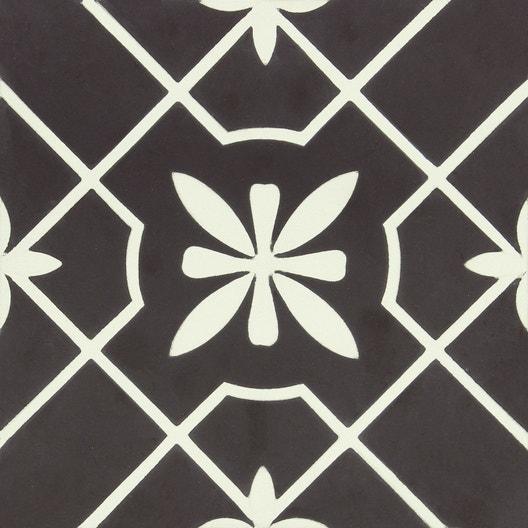 carreau de ciment belle poque d cor lisa gris et blanc x cm leroy merlin. Black Bedroom Furniture Sets. Home Design Ideas