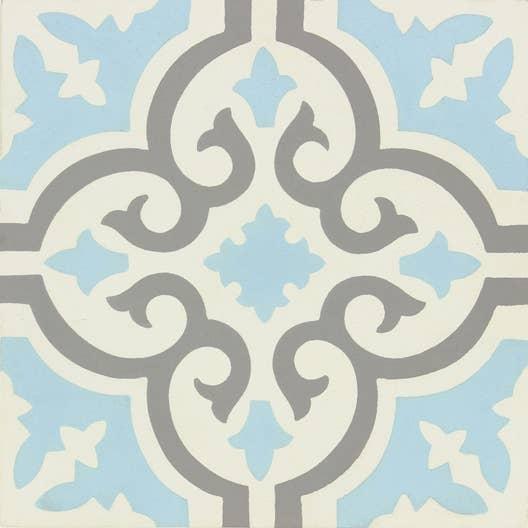 carreau de ciment belle poque d cor elise gris bleu et. Black Bedroom Furniture Sets. Home Design Ideas