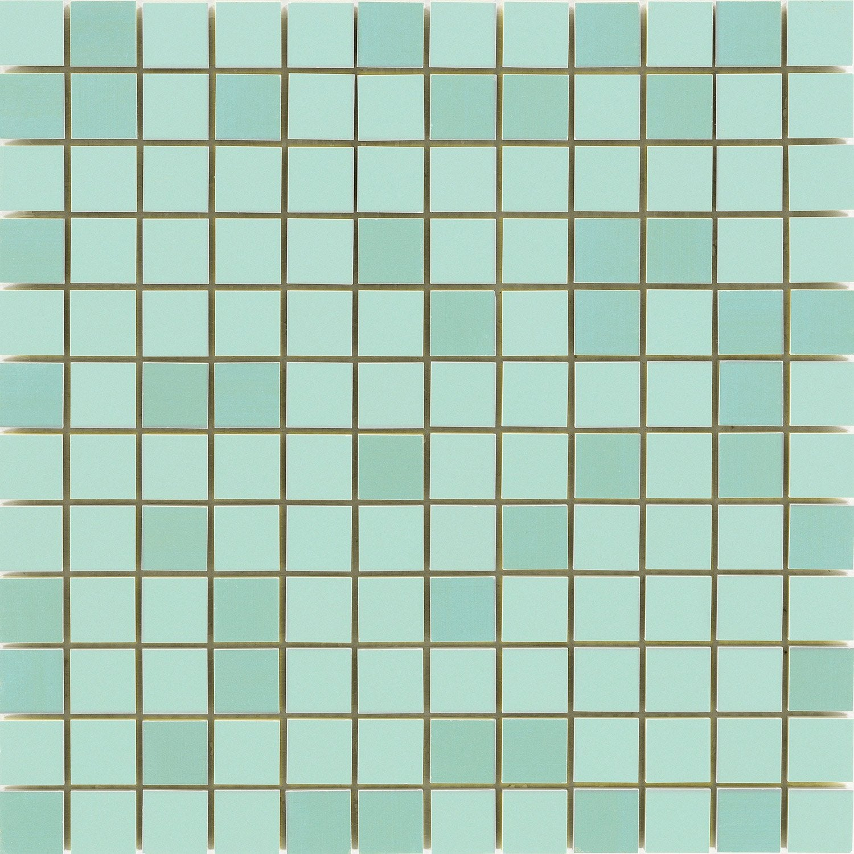 mosa que mur loft vert d 39 eau 2 x 2 cm leroy merlin. Black Bedroom Furniture Sets. Home Design Ideas