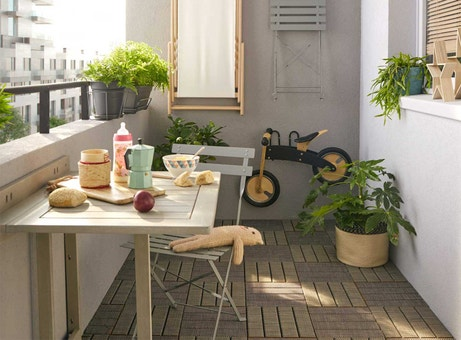 Bien am nager son balcon leroy merlin - Comment faire une table pliante ...