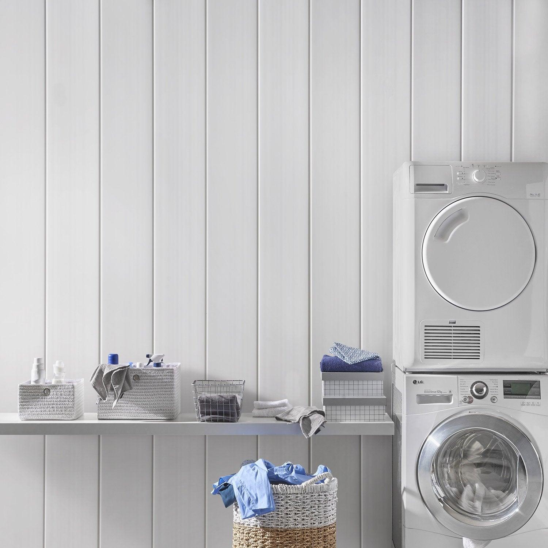 Lambris PVC blanc L.260 x l.37.5 cm x Ep.8 mm