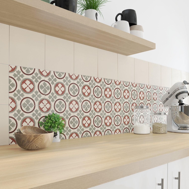 dcorez sa cuisine avec des carreaux de ciment beige et rouge