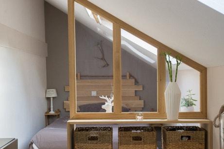 les cloisons redessinent l 39 espace leroy merlin. Black Bedroom Furniture Sets. Home Design Ideas