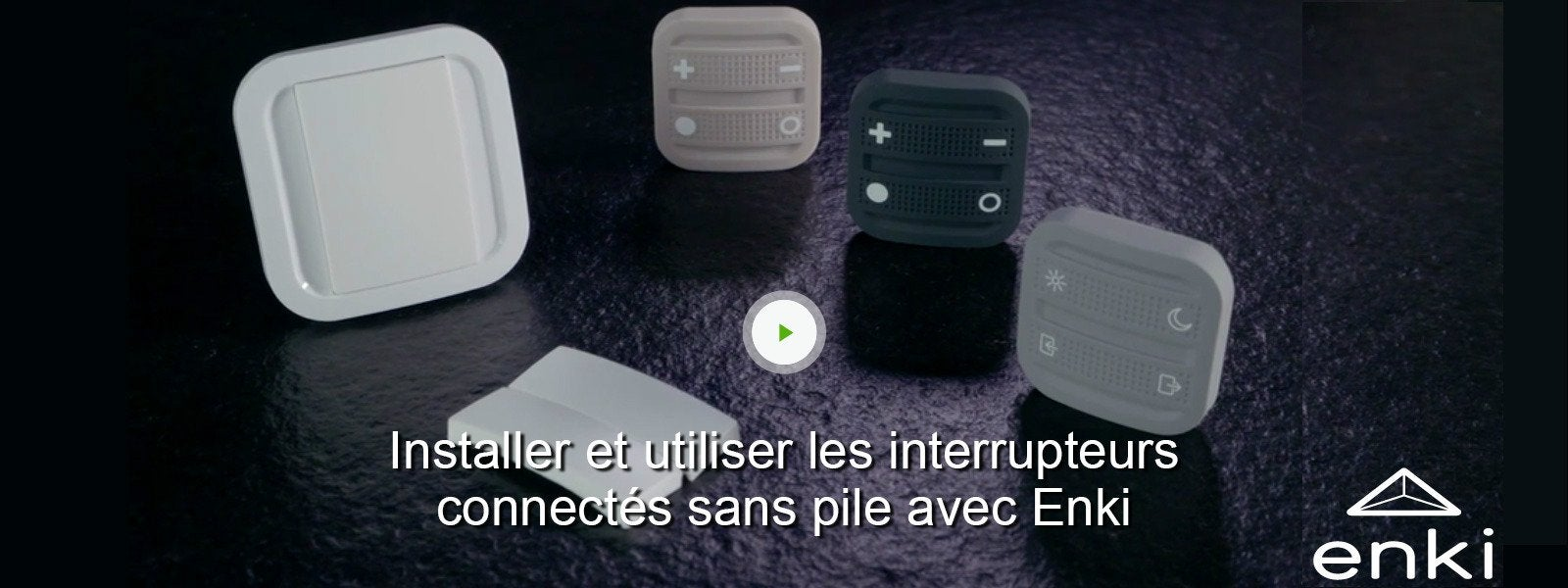 interrupteur mural connect 1 et 2 boutons sans fil sans. Black Bedroom Furniture Sets. Home Design Ideas