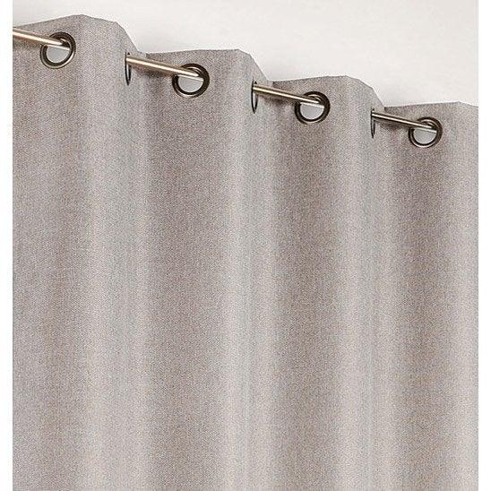 Rideau occultant, Calypso gris clair l.140 x H.240 cm