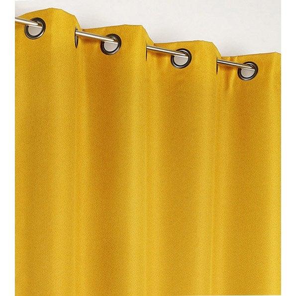 Rideau occultant, Calypso, jaune, l.140 x H.240 cm