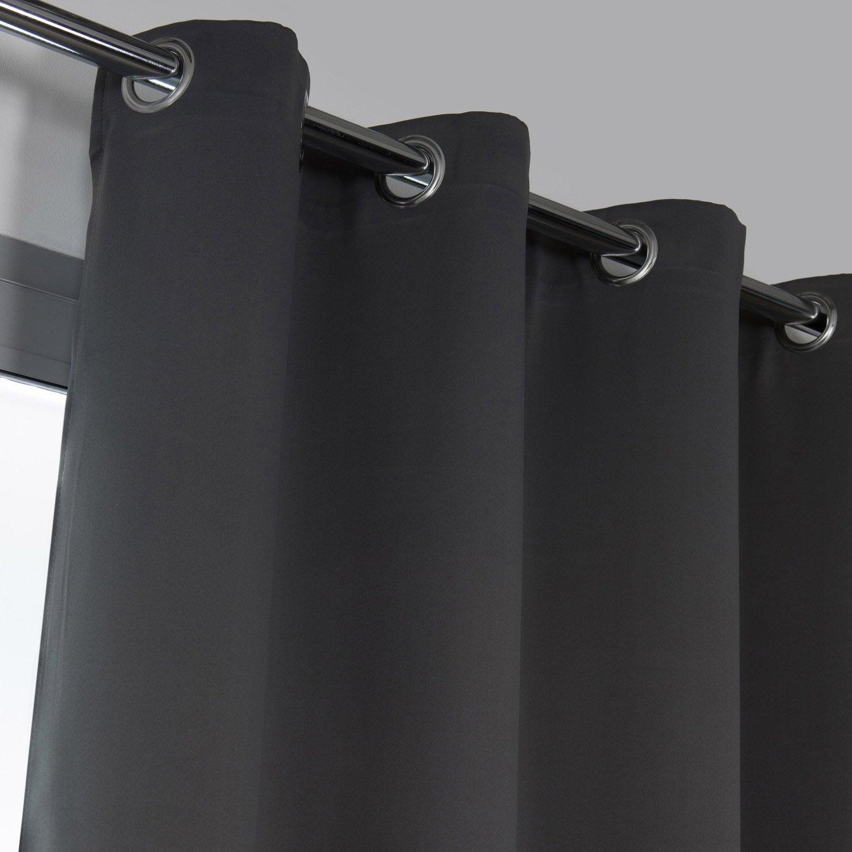 Rideau obscurcissant, Elios gris l.135 x H.240 cm