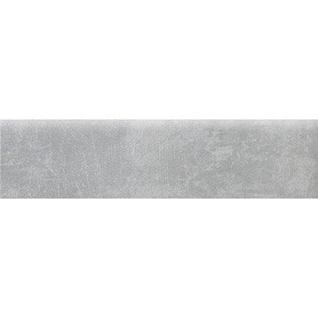 Lot de 4 plinthes Factory gris, l.7.5 x L.30 cm