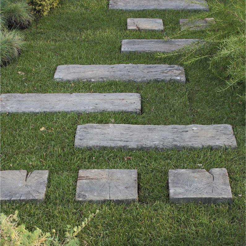 Traverse Stonewood en pierre reconstituée imitation bois, L.67.5 x l.22.5 x  Ep.5