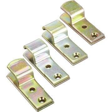 2 supports droits + 2 supports coudes + 4 contreplaques acier zingué pour volets