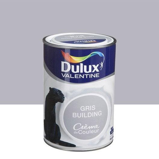 peinture gris building dulux valentine cr me de couleur 1. Black Bedroom Furniture Sets. Home Design Ideas