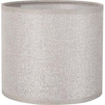 Abat-jour Tube, 25 cm, coton, shine
