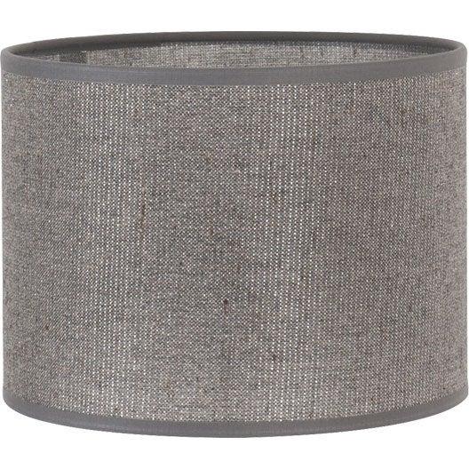 Abat jour tube 35 cm coton gris paillettes leroy merlin - Abat jour suspension leroy merlin ...