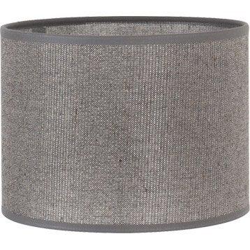 Abat-jour Tube, 35 cm, coton, gris paillettes