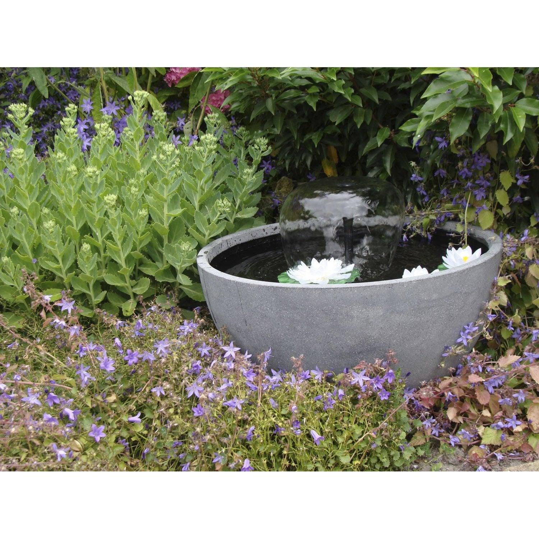 Kit bassin ubbink terrasse 3 gris cm leroy merlin for Petit bassin de terrasse