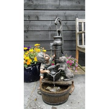 Kit fontaine UBBINK Regina, gris, H.77 cm