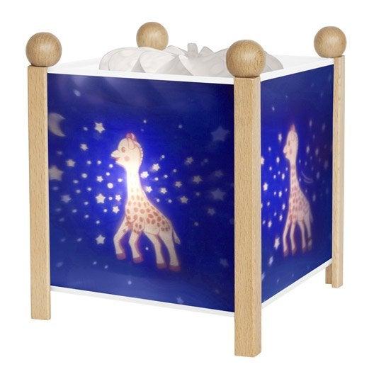 Lampe, e14 Sophie la girafe, plastique bleu nuit, 10 W