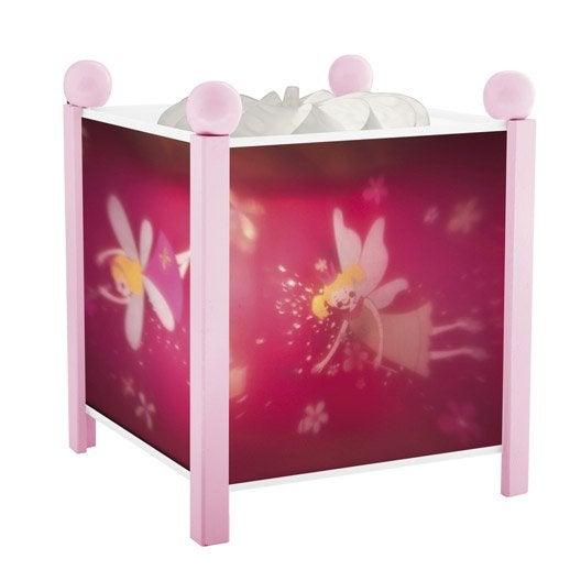 Lampe, e14 Princesses, plastique rose, 10 W