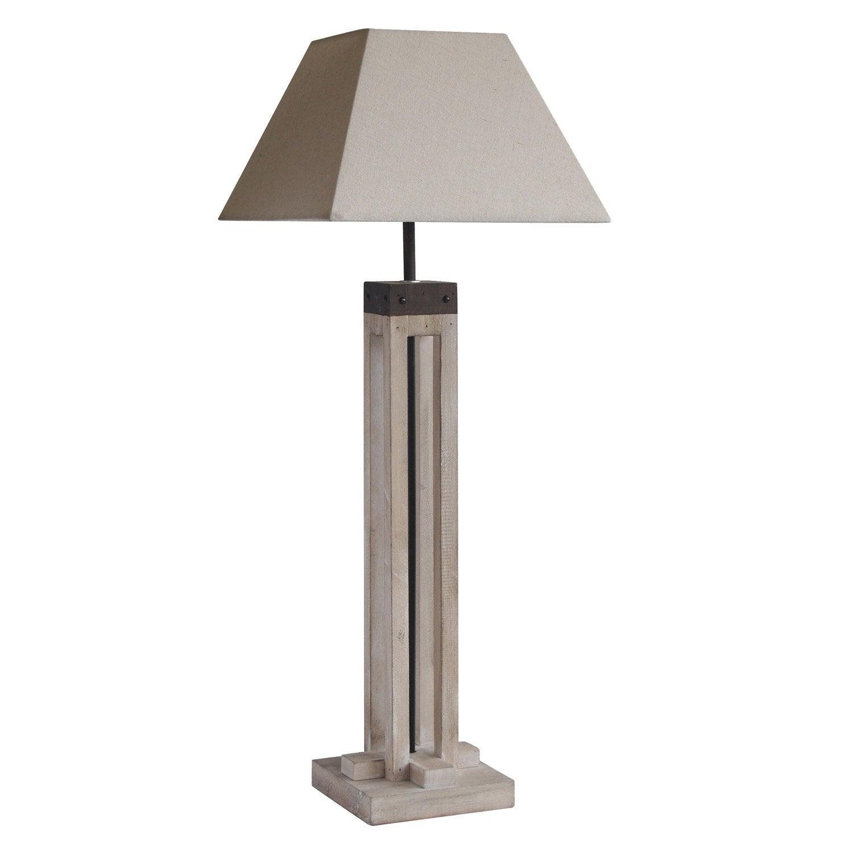 Lampe, e27 Empire SEYNAVE, coton naturel, 40 W