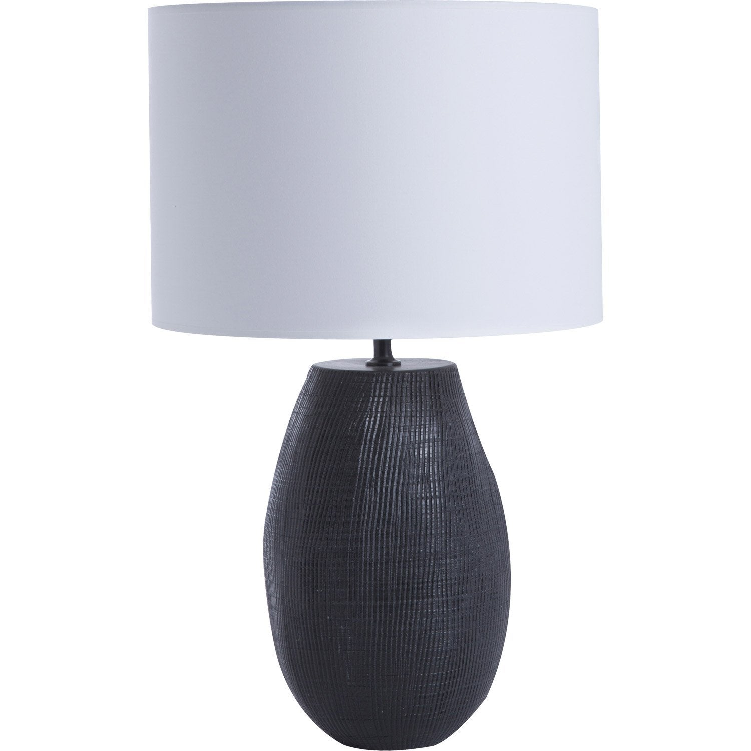 lampe e27 terra coton blanc 60 w leroy merlin. Black Bedroom Furniture Sets. Home Design Ideas