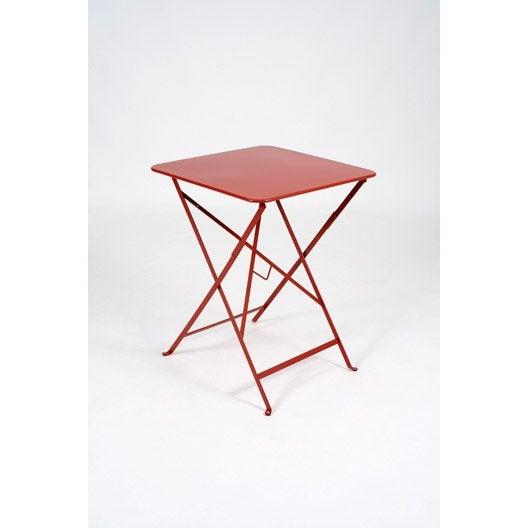 table de jardin fermob bistro carr e coquelicot 2. Black Bedroom Furniture Sets. Home Design Ideas