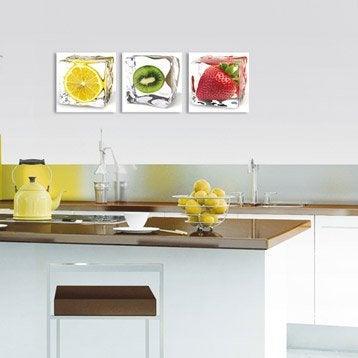 Verre imprimé Fraise glacée DECO GLASS l.20 x H.20 cm