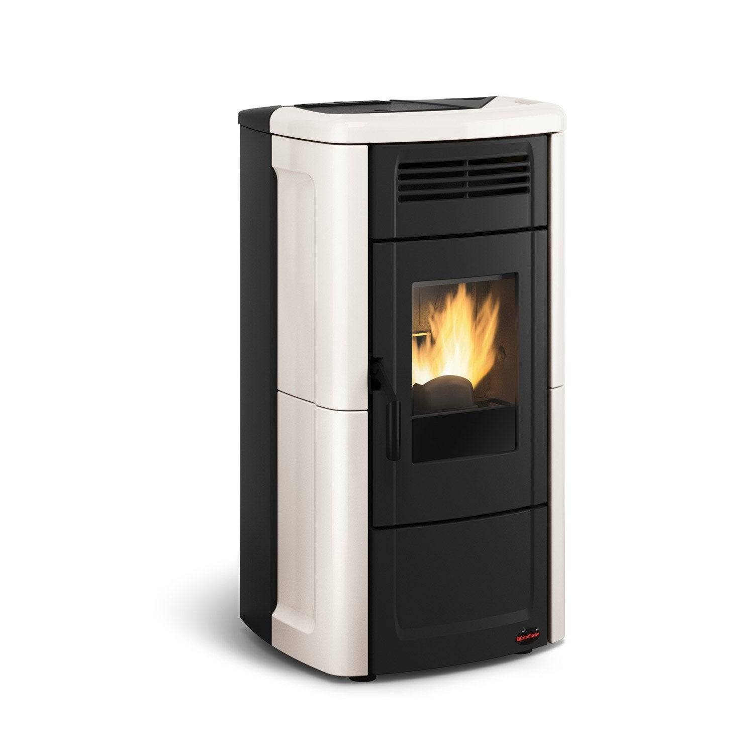 po le granul s extraflame novella ivoire 10 kw leroy merlin. Black Bedroom Furniture Sets. Home Design Ideas