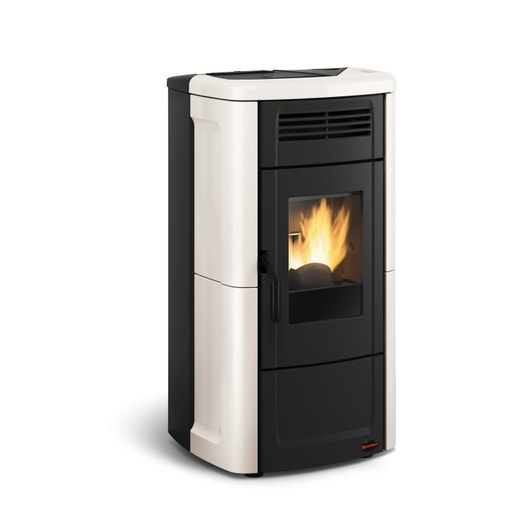 po le granul s extraflame novella plus ivoire 10 kw leroy merlin. Black Bedroom Furniture Sets. Home Design Ideas