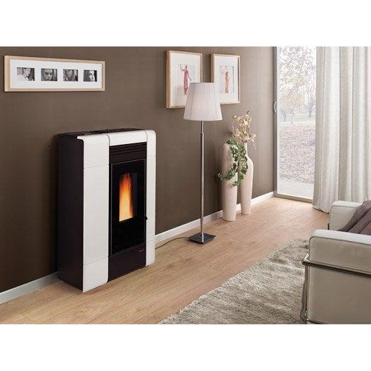 po le granul s extraflame ilenia blanc 8 kw leroy merlin. Black Bedroom Furniture Sets. Home Design Ideas
