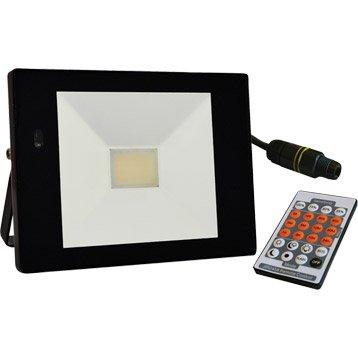Projecteur à fixer extérieur LED intégrée 32 W = 2366 Lm, noir
