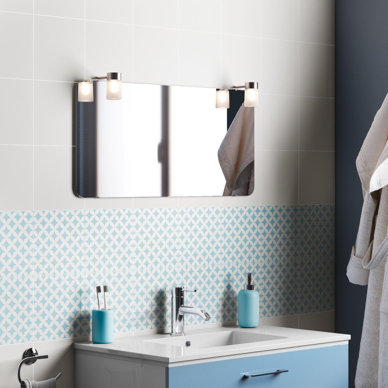 Un carrelage blanc gris bleu mural pour la salle de bain | Leroy Merlin
