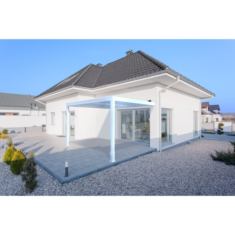 pergola adoss e orient aluminium blanche 12 m leroy. Black Bedroom Furniture Sets. Home Design Ideas