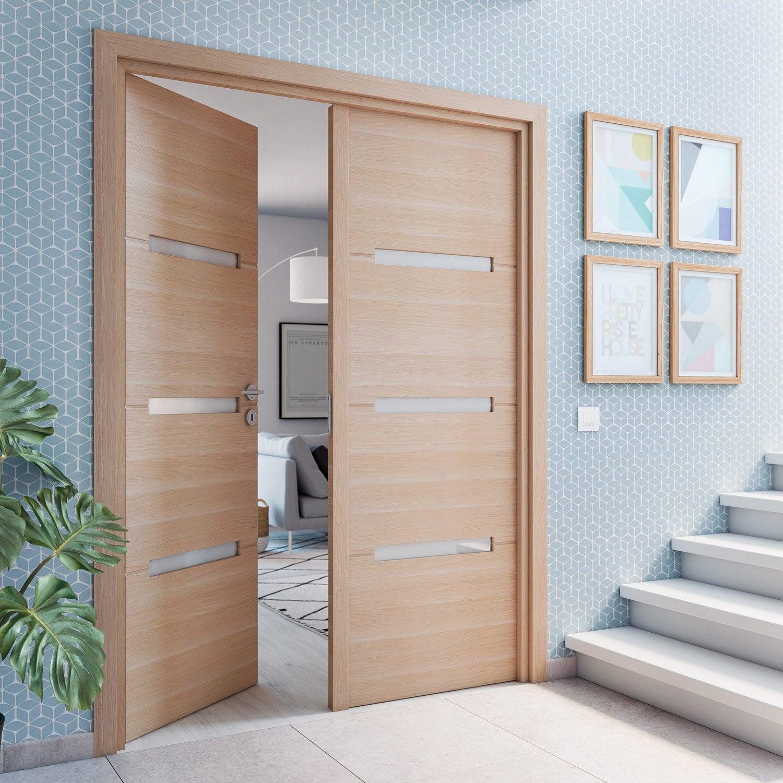 bloc porte rev tu ch ne clair madrid 2 artens x cm poussant droit leroy merlin. Black Bedroom Furniture Sets. Home Design Ideas
