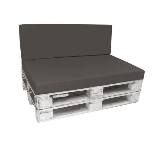 kit coussins d 39 assise de chaise ou de fauteuil gris ardoise x cm leroy merlin. Black Bedroom Furniture Sets. Home Design Ideas