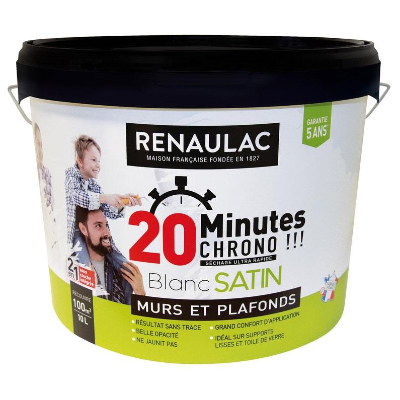 Peinture Renaulac Murs Et Plafonds Blanc Satiné 10 L