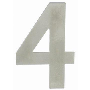 Chiffre 4 en acier inoxydable