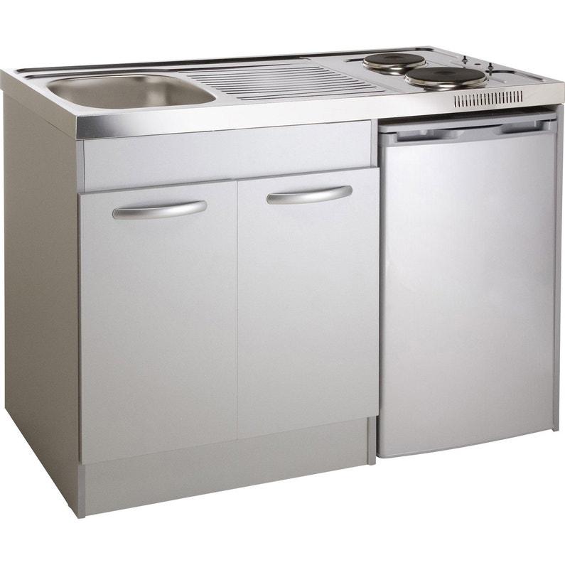 Kitchenette Electrique Gris Aluminium Spring H 92 5 X L 120 X P 60 Cm