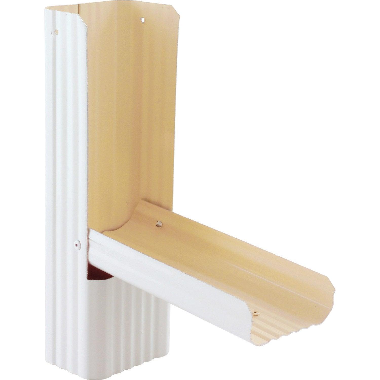 r cup rateur d 39 eau de pluie aluminium blanc scover plus leroy merlin. Black Bedroom Furniture Sets. Home Design Ideas