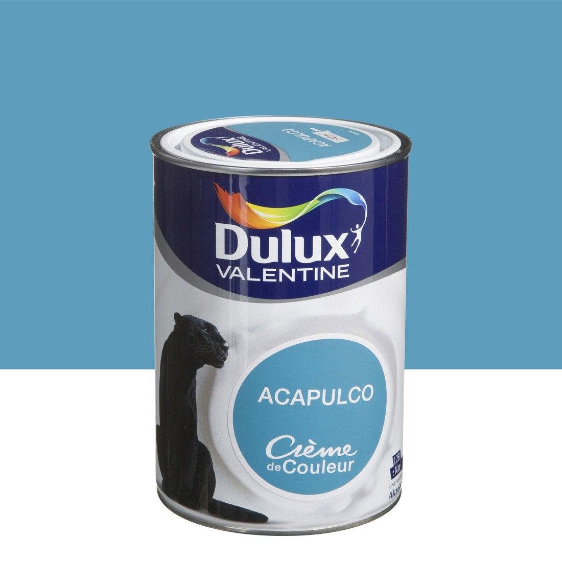 Peinture Bleu Acapulco Satin Dulux Valentine Cr Me De Couleur 1 25 L