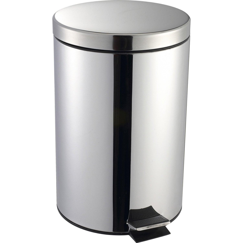 poubelle de cuisine p dale selekta m tal inox 20 l. Black Bedroom Furniture Sets. Home Design Ideas