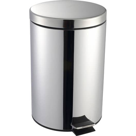 poubelle de cuisine p dale selekta m tal inox 20 l leroy merlin. Black Bedroom Furniture Sets. Home Design Ideas