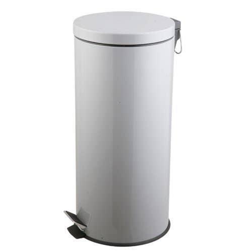 poubelle de cuisine p dale frandis m tal gris 30 l leroy merlin. Black Bedroom Furniture Sets. Home Design Ideas