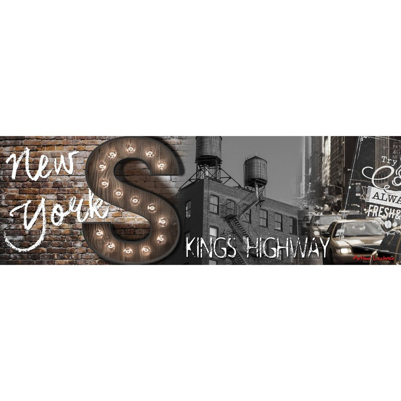 Toile Led Kings Highway 140x45 Cm