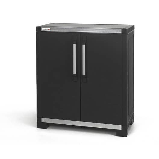 armoire basse r sine 1 tablette allibert xl pro x h. Black Bedroom Furniture Sets. Home Design Ideas