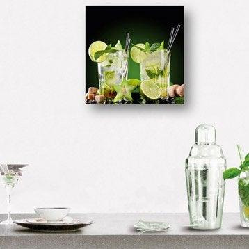 Verre imprimé Mojitos DECO GLASS l.30 x H.30 cm