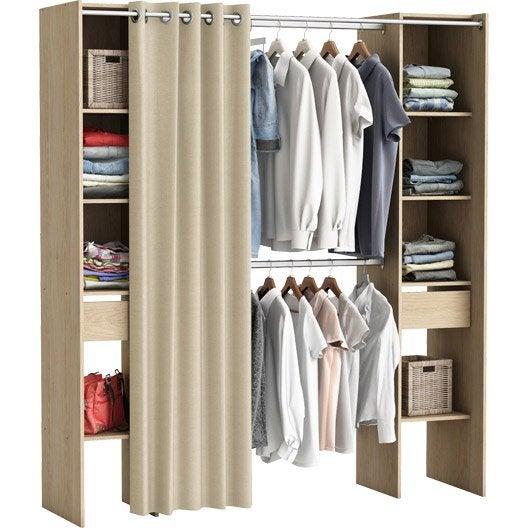 kit dressing effet ch ne naturel star x x cm leroy merlin. Black Bedroom Furniture Sets. Home Design Ideas