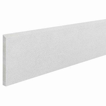 Lot de 2 plinthes Proton blanc, l.7 x L.60.3 cm