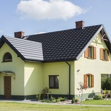 amazing plaque imitation tuile acier noir mat turutuile l. Black Bedroom Furniture Sets. Home Design Ideas