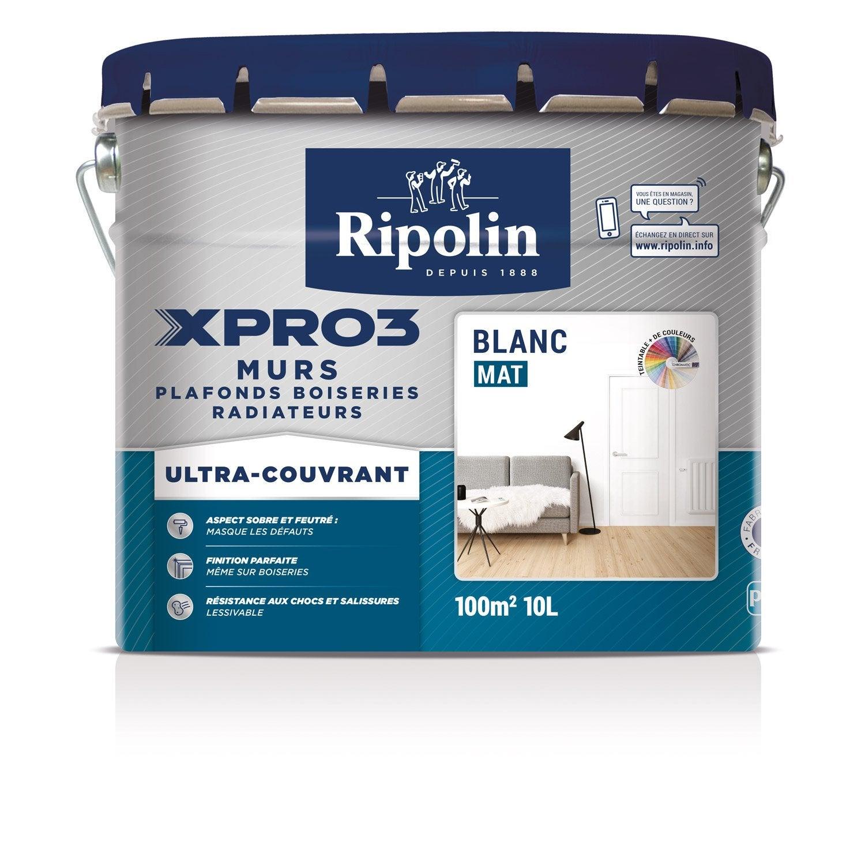 peinture blanche mur plafond et boiserie xpro3 ripolin. Black Bedroom Furniture Sets. Home Design Ideas