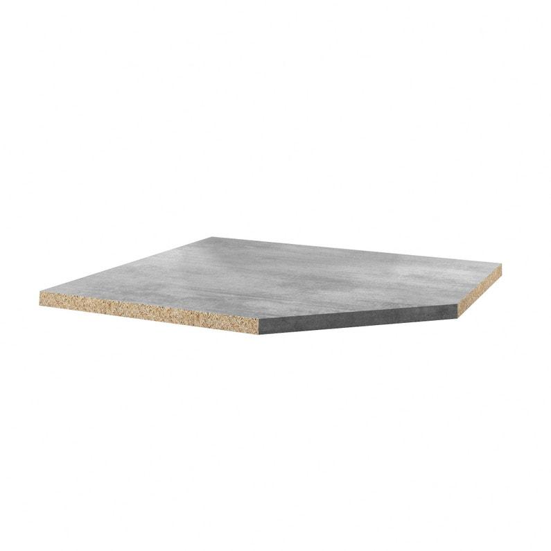 Plan D Angle Stratifie Beton Cire Clair Mat L 105 X P 105 Cm Ep